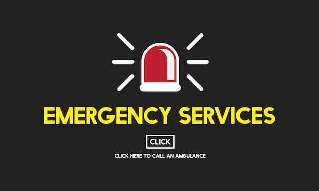 Illustration Du Sauvetage D'urgence Vecteur gratuit