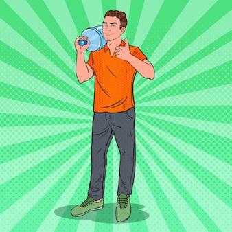 Illustration du service de livraison d'eau