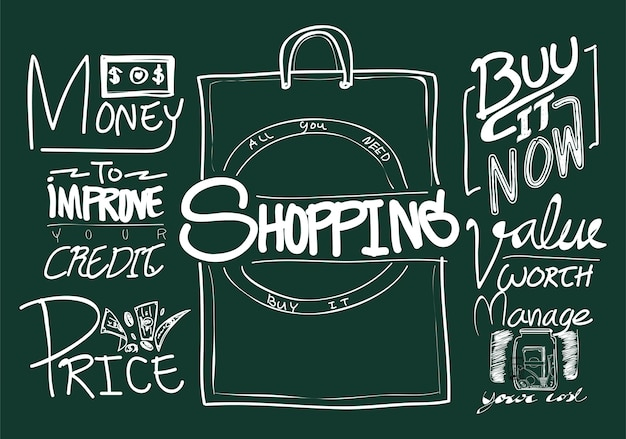 Illustration du shopping en ligne
