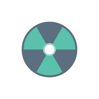 Illustration du signe d'avertissement radioactif