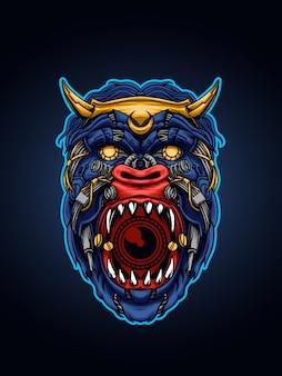 L'illustration du singe mécha sauvage
