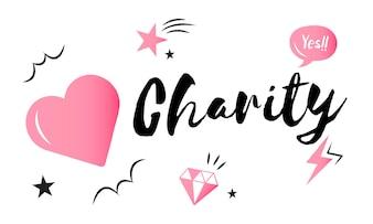Illustration du soutien à la charité