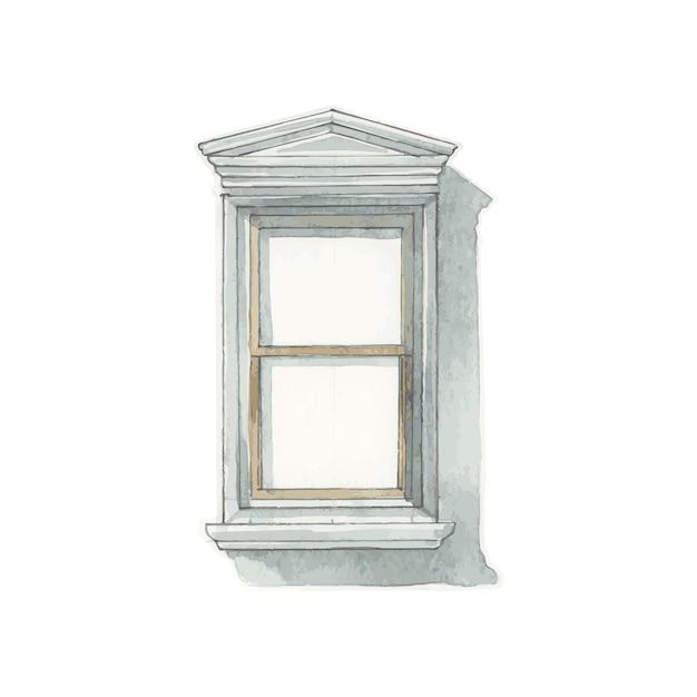 Illustration du style de couleur de l'eau fenêtre