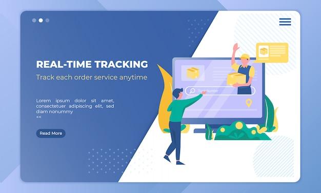 Illustration du suivi des commandes de livraison en temps réel
