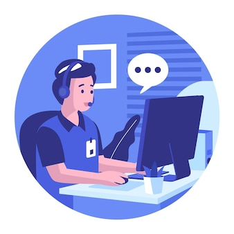 Illustration du support client