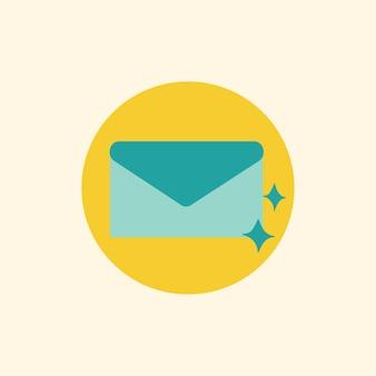 Illustration du symbole d'icône de courrier