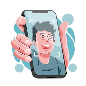 Illustration du système de reconnaissance faciale