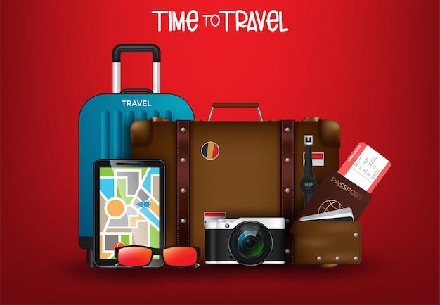 Illustration du temps de voyager