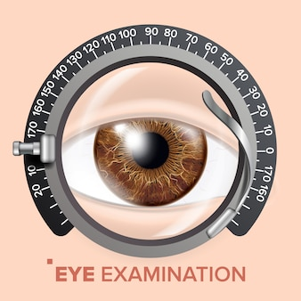 Illustration du test oculaire
