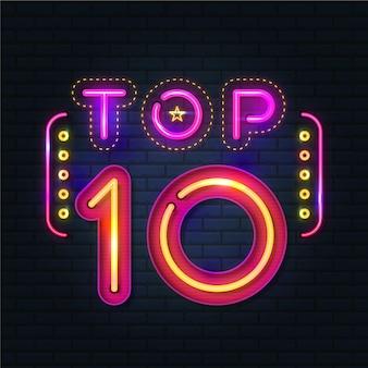 Illustration du top dix néon