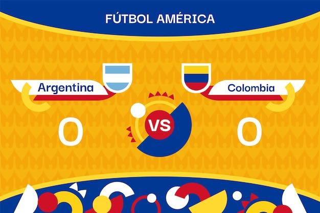 Illustration du tournoi de football sud-américain plat organique