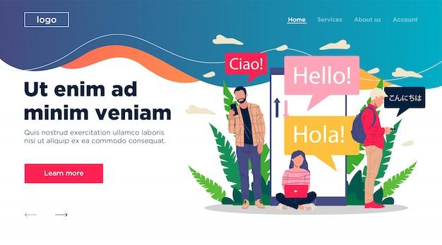 Illustration du traducteur multilingue en ligne