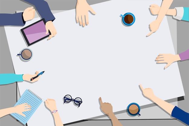 Illustration du travail d'équipe de brainstorming