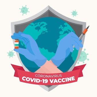 Illustration du vaccin contre le coronavirus dessiné à la main