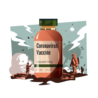 Illustration du vaccin contre le virus corona