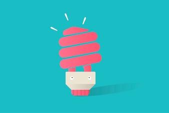 Illustration du vecteur d'ampoule sur fond bleu
