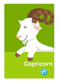 Illustration du vecteur isolé de capricorne. signes du zodiaque