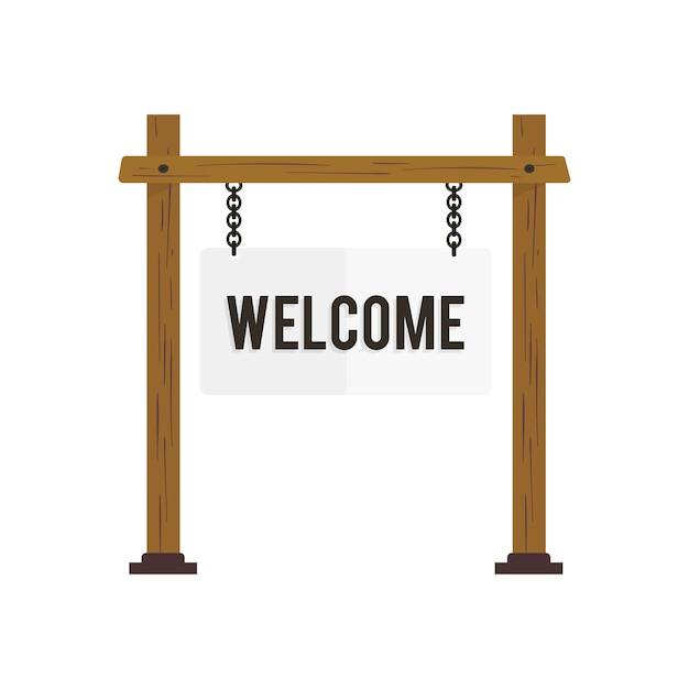 Illustration du vecteur de signe de bienvenue