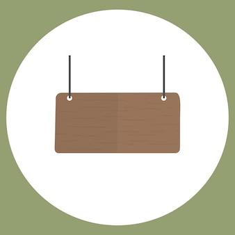 Illustration du vecteur de signe vide