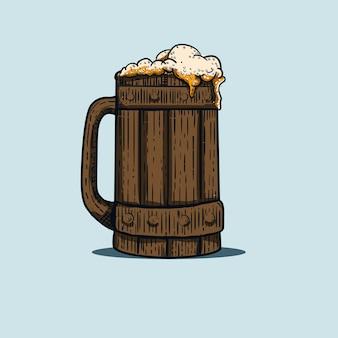 Illustration du verre à bière avec