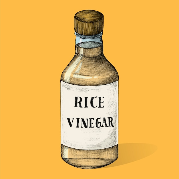 Illustration du vinaigre de riz
