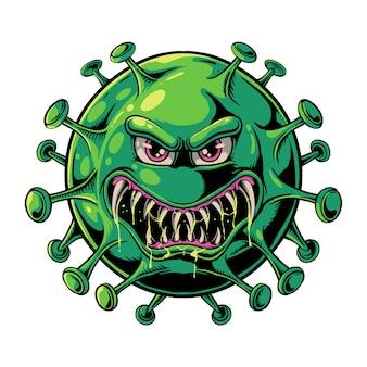 Illustration du virus maléfique