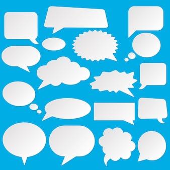 Illustration de duddle de style bande dessinée de bulles. explosion de dessin animé, discours isolé sur fond. bulle de spech dans le pop art