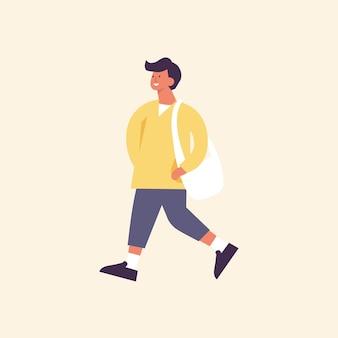 Illustration dun homme heureux portant des vêtements de printemps