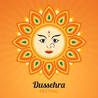 Illustration de dussehra dessinée à la main