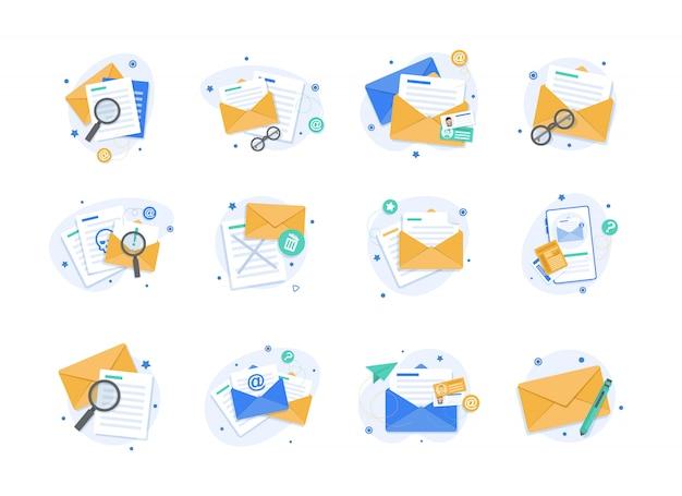 Illustration d'e-mail et de messagerie