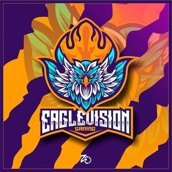 Illustration eagle fire gaming