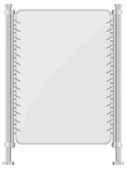 Illustration d'un écran avec des supports en métal