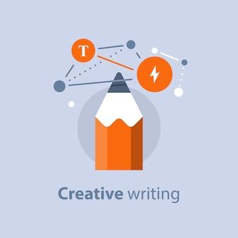 Illustration d'écriture créative