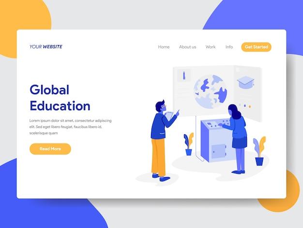 Illustration de l'éducation globale pour les pages web