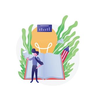 Illustration de l'éducation isométrique à plat