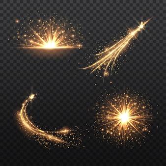 Illustration d'effet de lumière golden glow