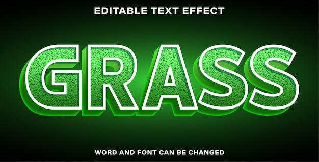 Illustration d'effet de texte modifiable herbe