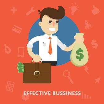 Illustration efficace de gestion d'entreprise