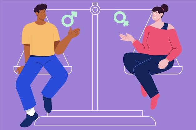 Illustration de l'égalité des sexes