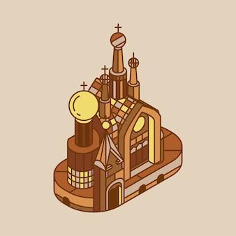 Illustration de l'église du sauveur sur le sang russie
