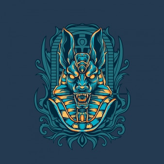 Illustration égyptienne d'anubis
