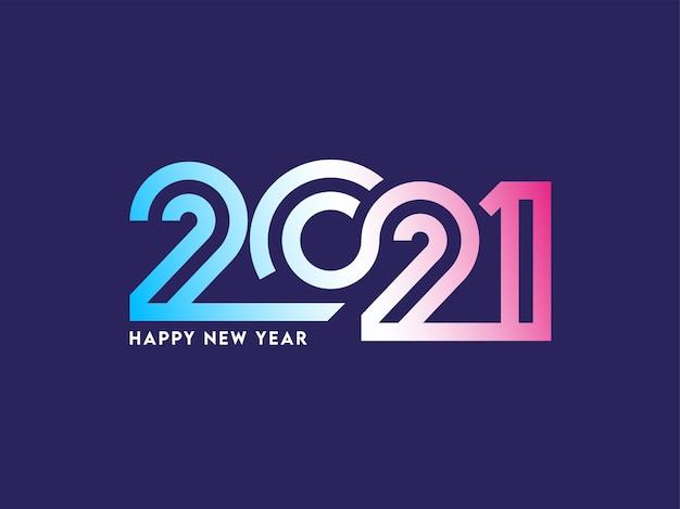 Illustration élégante du numéro 2021