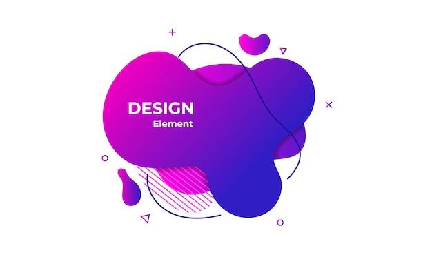 Illustration d'élément abstrait liquide violet