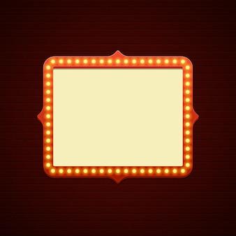 Illustration d'élément de conception de signes showtime rétro