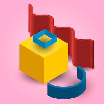 Illustration d'élément géométrique 3d