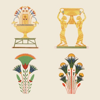 Illustration de l'élément vectoriel ornemental égyptien antique