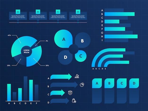 Illustration des éléments infographiques commerciaux