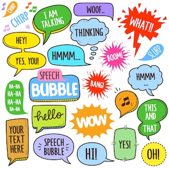 Illustration des éléments speech bubbles