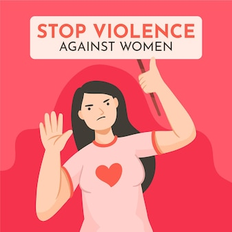 Illustration de l'élimination de la violence contre les femmes