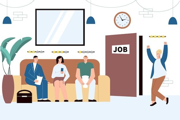 Illustration de l'embauche de personnes